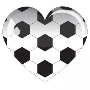 ハート サッカーボール